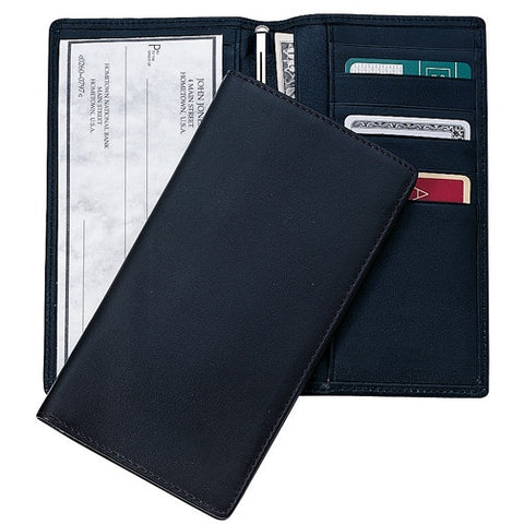 Personalized RFID Leather Checkbook Secretary Wallet
