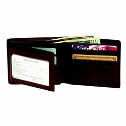 Personalized RFID Bi-Fold Wallet w/ Double ID Flap