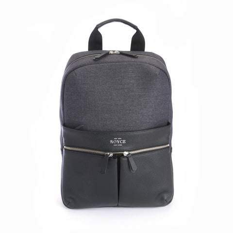 Leather Charging Power Bank Backpack