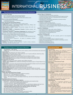International Business Laminated Reference Guide