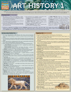Art History 1 Laminated Reference Guide