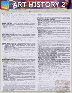 Art History 2 Laminated Reference Guide