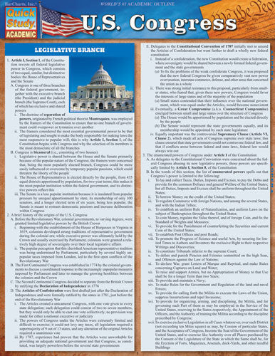 U.S. Congress Laminated Reference Guide