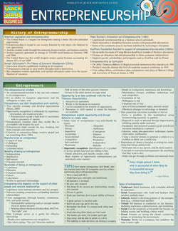 Entrepreneurship Laminated Reference Guide
