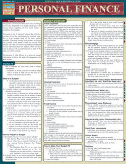 Personal Finance Laminated Reference Guide