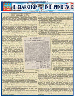 Declaration of Independence Laminated Reference Guide
