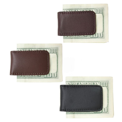 Personalized Leather Business Magnetic Money Clip