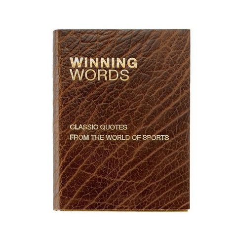Winning Words Sports Quote Book (Bison Leather)