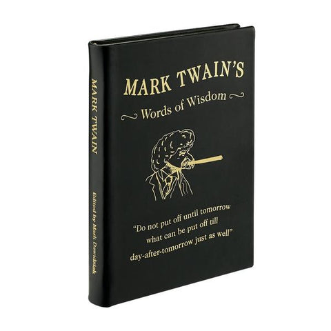 Mark Twain's Words of Wisdom (Black Traditional Leather)