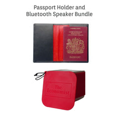 The Economist bluetooth portable speaker & passport bundle