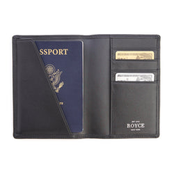 Personalized RFID Blocking Nappa Leather Passport Document Wallet