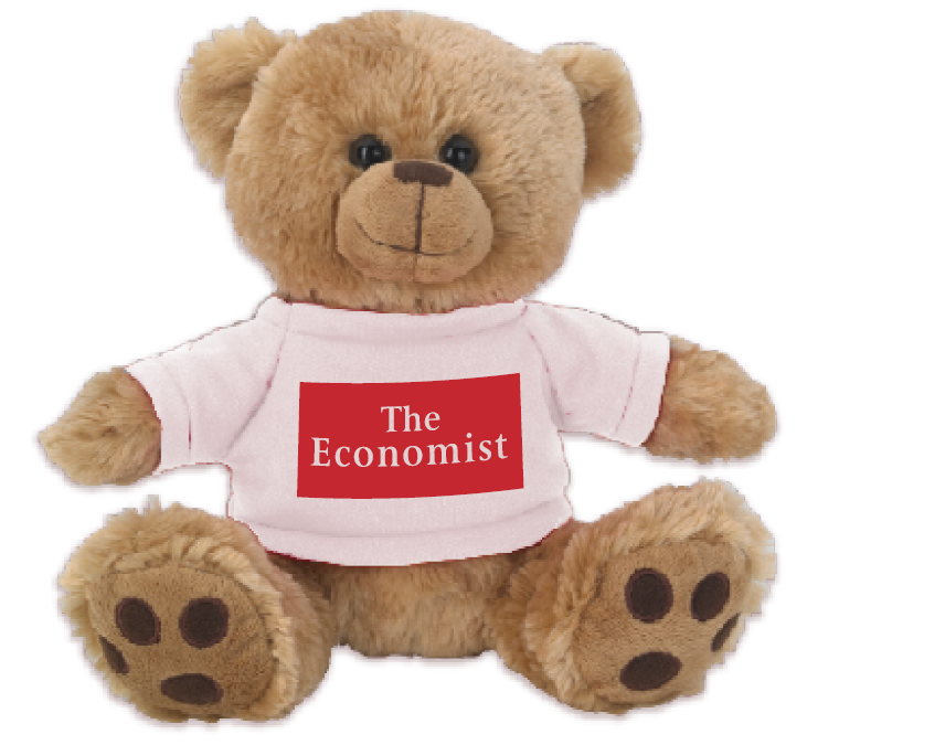 The Economist Brown Plush Big Paw Teddy Bear
