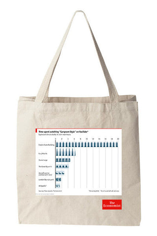 Tote bag: The hidden cost of Gangnam Style (Natural)