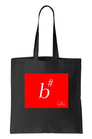 Tote bag: B# Sharp (Black-100% Cotton)