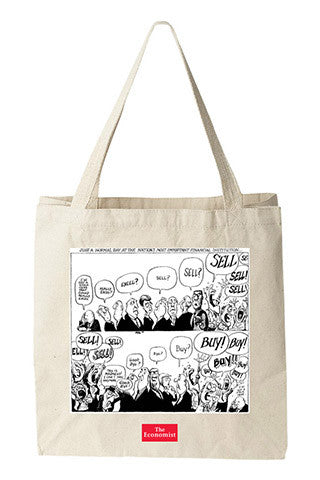 Tote bag: Buy! Buy! Sell! from Kal (Natural)