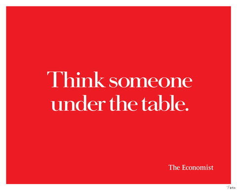 Think someone under the table.