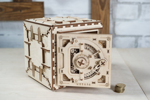 3D Mechanical Puzzle 3-digit Combo Lock Safe Model