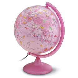 Safari Explorer Animals Pink Illuminated Globe
