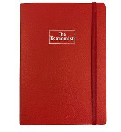 The Economist B6 Executive Notebook - Red
