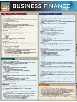 Business Finance Laminated Reference Guide