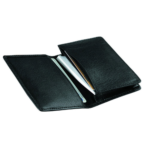 Personalized Deluxe Leather Business Card Case
