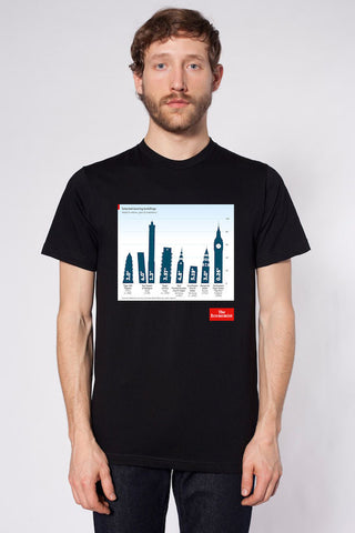 Men's T-Shirt: Leaning buildings
