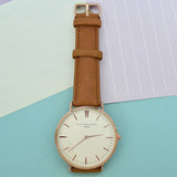 Personalized Modern Vintage Leather Watch in Camel