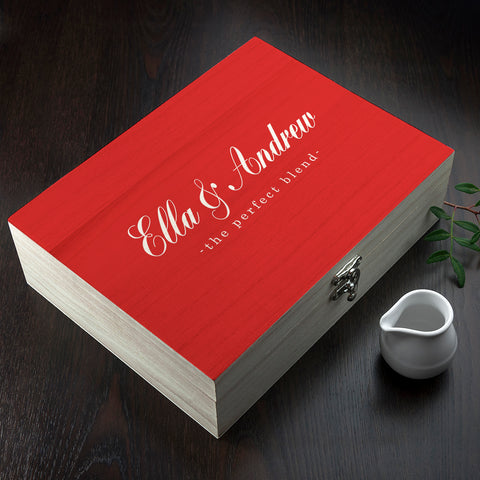 Personalised The Perfect Blend Tea Box
