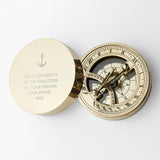 Personalized Iconic Adventurer's Sundial Compass