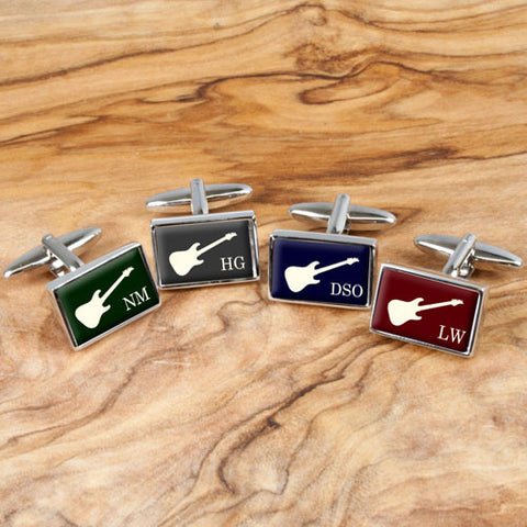 Personalized Executive Guitar Cufflinks
