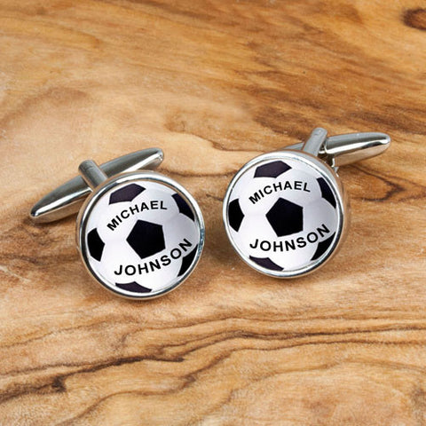 Personalized Unique Soccer/Football Cufflinks