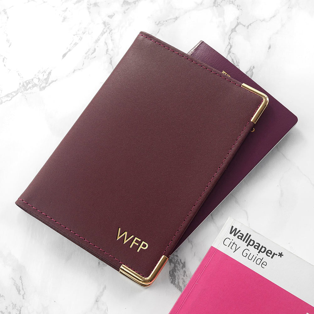 73f6066c7 Home › Personalised Luxury Leather Passport Cover. Created with Sketch.  Hover to Zoom