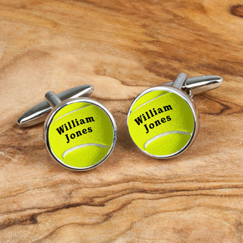 Personalized Unique Tennis Ball Cufflinks