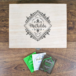 Personalized Time For a Break! Blooming Beautiful Tea Box