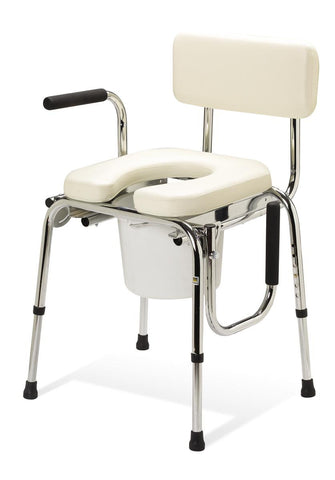 Drop-Arm Commode (Padded seat)