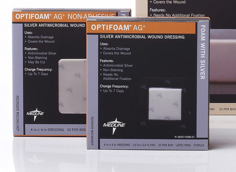Optifoam Silver Adhesive Dressing