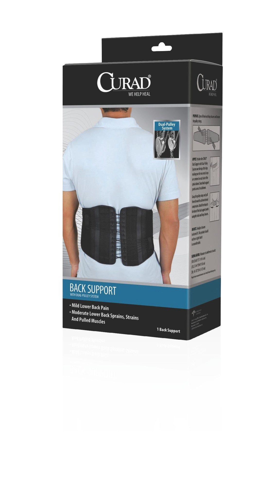 Back Support w/ Dual-Pulley System by Curad™