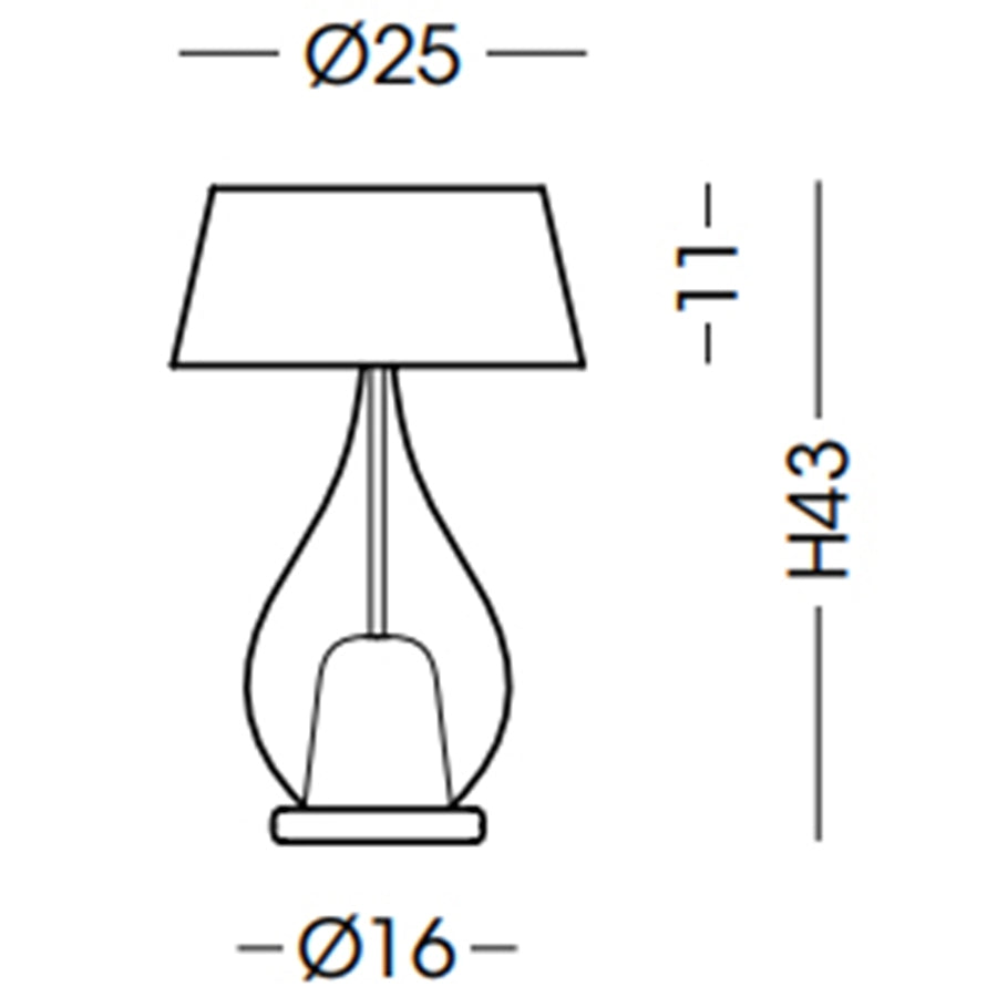 Zoe Small Table Lamp Specifications
