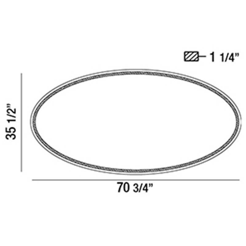 29106 Oval Back-Lit LED Mirror Specifications