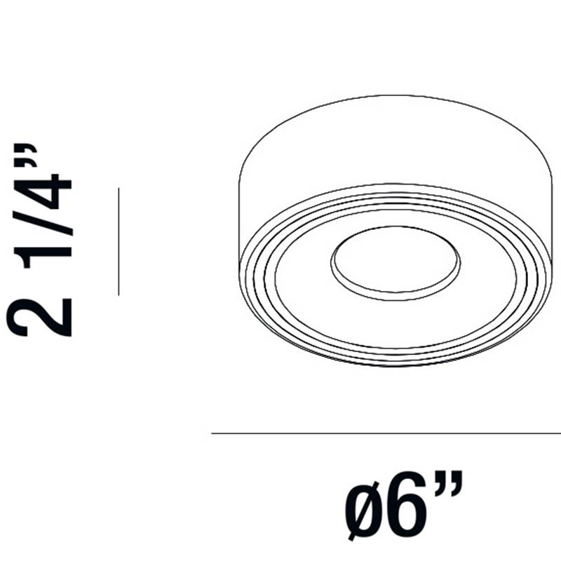 Stavro White 1 Light LED Surface Mount Ceiling Light Specifications
