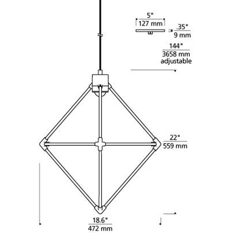 Candora Small Chandelier Specifications