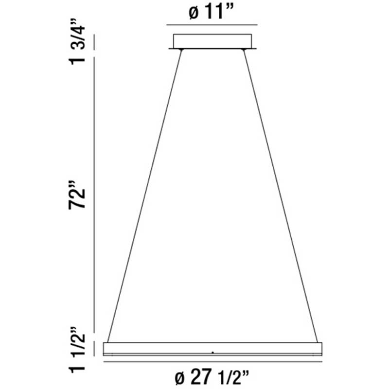 Spunto Small LED Chandelier Specifications