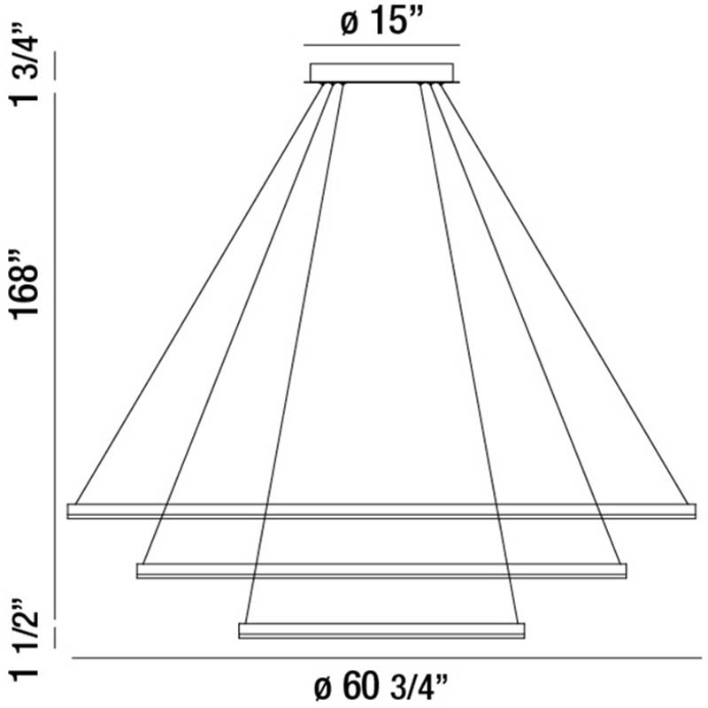 Spunto Three Tier LED Chandelier Specifications