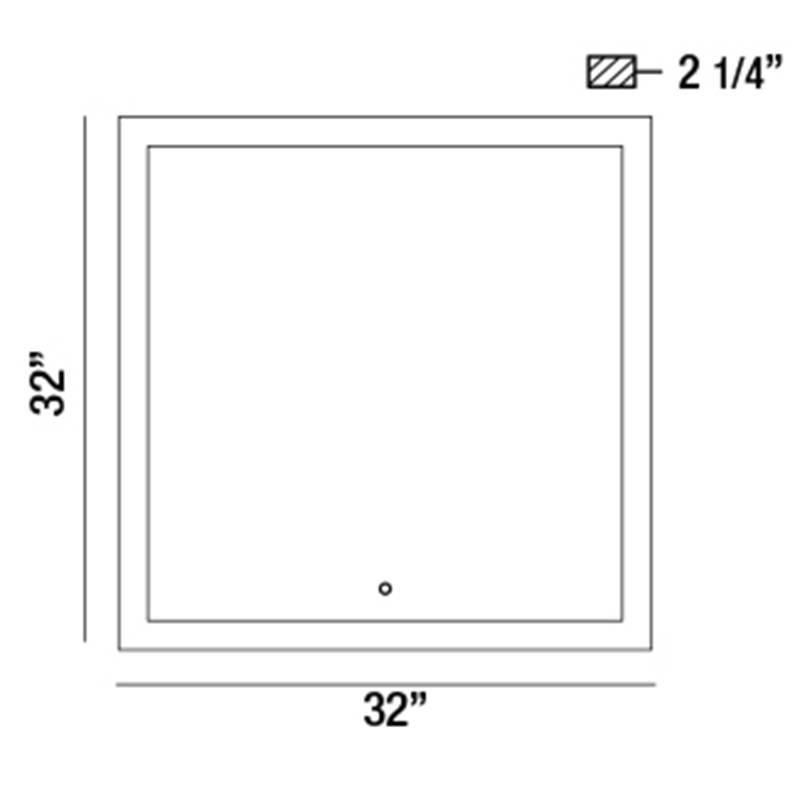 31482 Square Back-Lit LED Mirror Specifications
