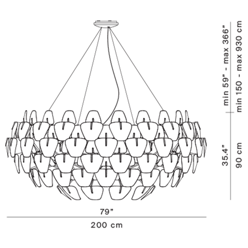 Hope D66/105 Chandelier Specifications