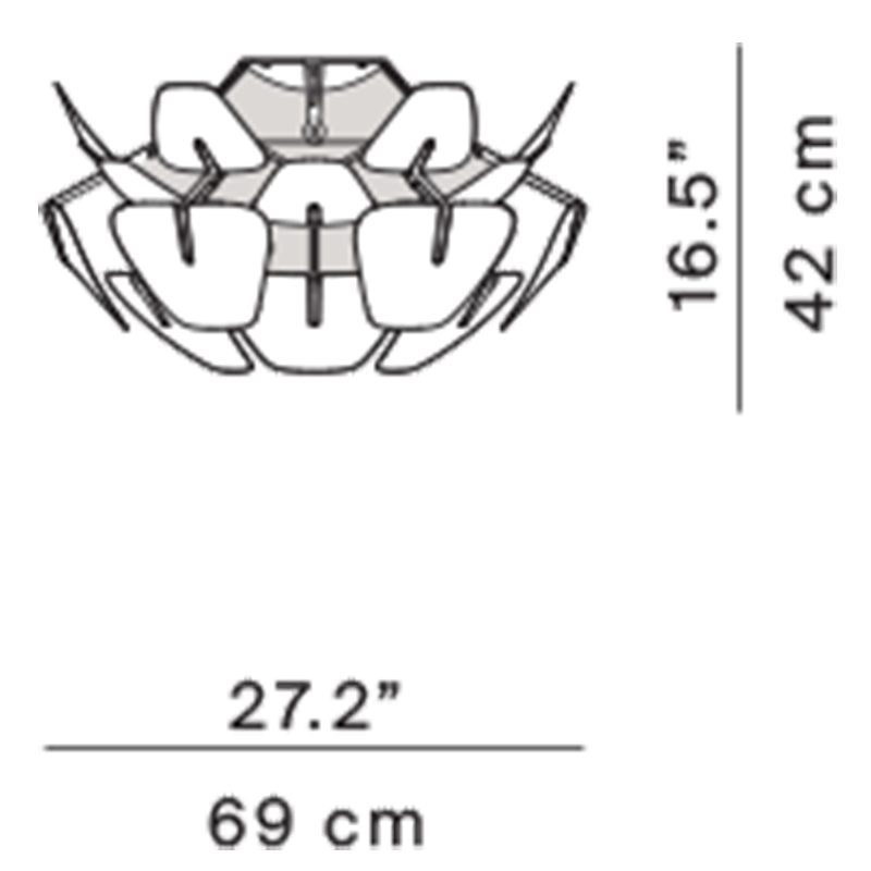 Hope D66/12p Flushmount Specifications