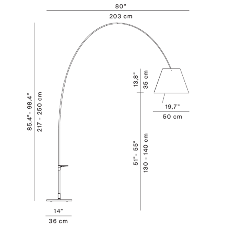 Lady Costanza Floor Lamp Specifications