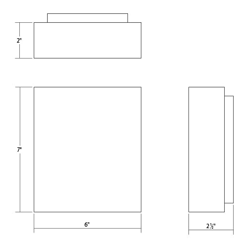 Flat Box Indoor/Outdoor LED Wall Sconce