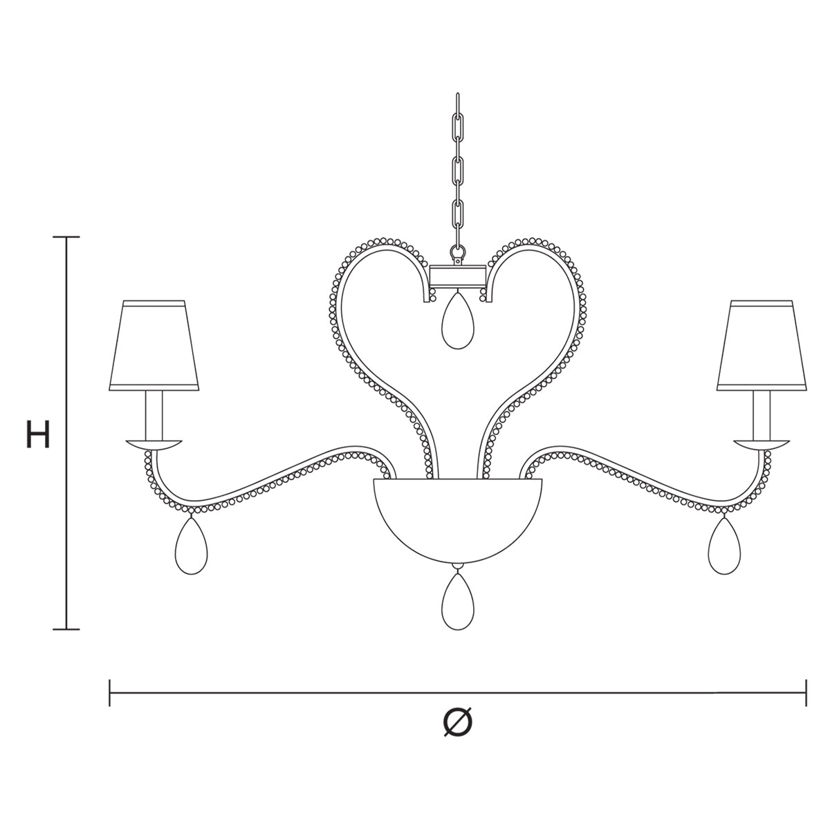 Noblesse 8 Chandelier Specifications