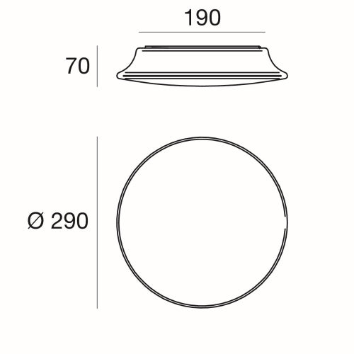 MyWhite_R Round LED Wall Light Small